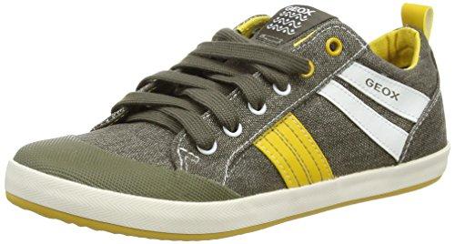 Geox Kiwi Boy I - Zapatos para niños Verde (Military/Dark Yellow)