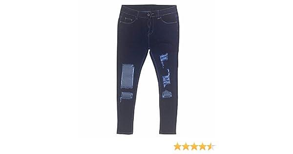 Pantalones Rotos Mujer,Mujer Vaqueros Push Up Rotos Ocio Estilo Skinny Jeans De EláSticos Ropa Pantalones STRIR