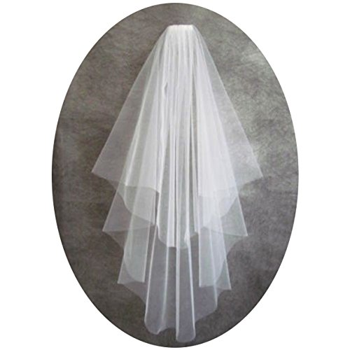 DingDingMail Two Layer Wedding Veils for Bride 2018 Short Bridal Veils(056)