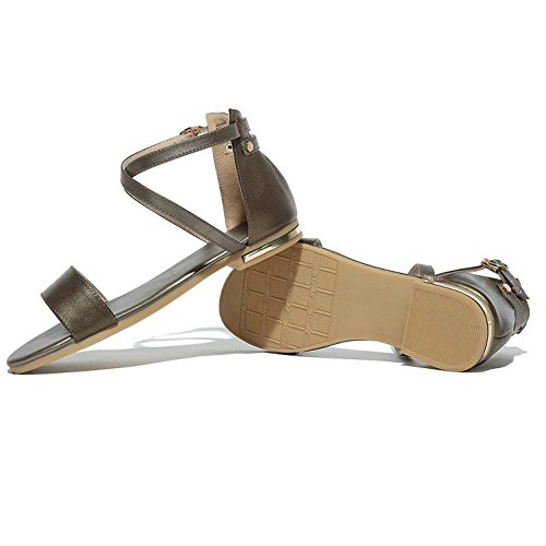 Or Boucle Femmes De TAOFFEN Sangle De Sandales De Mode Cheville Plat Orteil Ouvert Chaussures 6Ow8xUpqwf