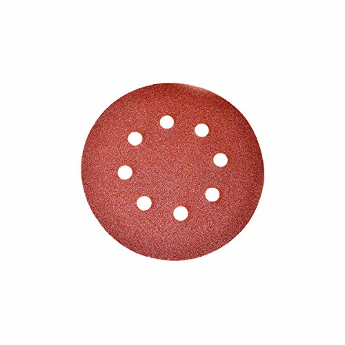 H&l 120g Disc - ALEKO 14SD01H 5 Pieces 120 Grit Sandpaper Discs With 8 Holes 5 Inches
