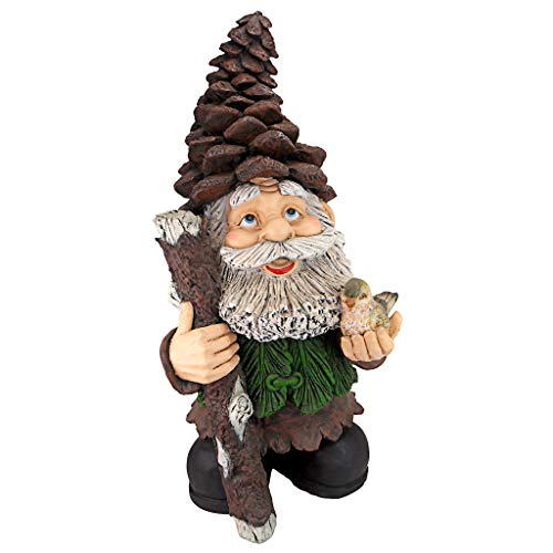 Design Toscano FU84845 Pinecone Percy Woodland Gnome Statue, 31.5 Inch, Full Color ()