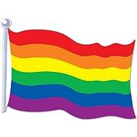 Accesorio del partido del recorte de la bandera del arco iris (1 cuenta)