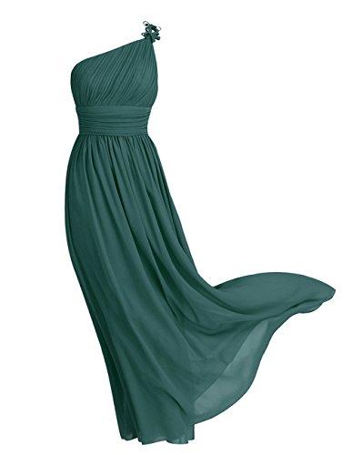 Bretelle Mariage Elgante Robe Cocktail Robe Demoiselle Soire Princesse Mousseline Dos d'honneur Crmonie Fonc Moulante Femme iixpin de Robe Vert Nu Longue X5wOAYAq