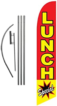 Outdoor Advertising Signs Food Feather Flags Banners with Pole Kit Stand
