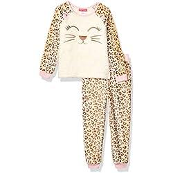 St. Eve - Pijama de Peluche para niña (2 Piezas), Gato, Medium