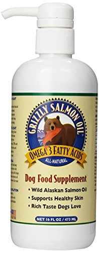 835953003118 - Grizzly Salmon Oil All-Natural Dog Food Supplement in Pump-Bottle Dispenser, 16 Ounces carousel main 0
