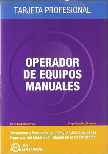 Operador de equipos manuales: Tarjeta profesional Metal ...