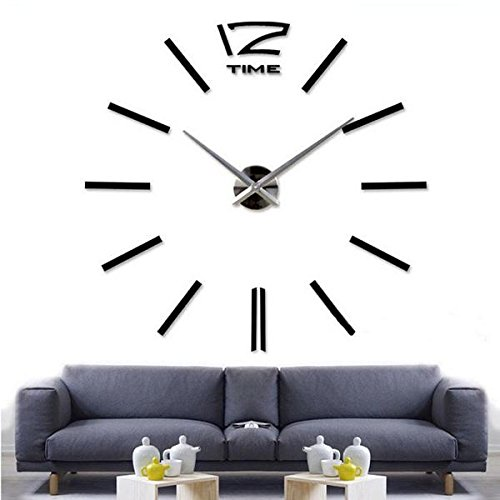 IN-India Luxurious Big wall Clock For Hotels, Restaurants, Conference Rooms, Drawing Room (Mirror-Finish