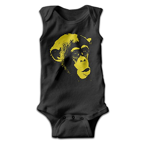 [BLUESPACE Monkey Face Boy & Girl Infants Climb Romper 18 Months Black] (Racer Girl Romper Costumes)
