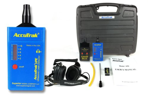 Superior AccuTrak VPE PRO-PLUS Ultrasonic Leak Detector Pro-Plus Kit, Includes VPE Leak Detector, Headset, Battery, Large Carry Case, Touch Probe, Waveguide, Sound Generator, Noise Blocking Headphones Sound Generator Kit
