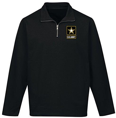 Buy Cool Shirts Mens US Army 1/4 Zip Alta Sweatshirt (Pocket Print), 2XL Black