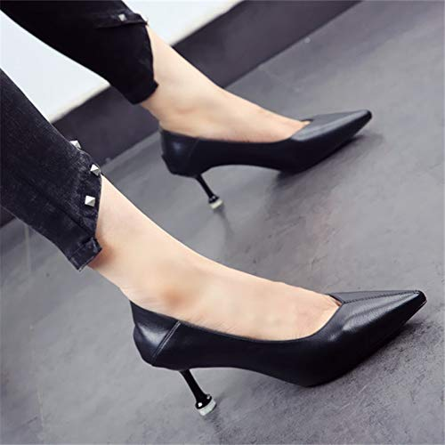 Spring shoes stiletto shoes mouth heels color shallow fashion YMFIE pointed autumn temperament and A cats solid 6dRxPqB8