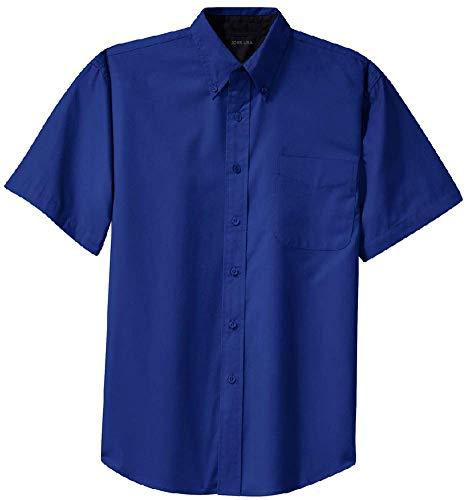 Joe's USA - Men's Short Sleeve Wrinkle Resistant Easy Care Shirts-XL Royal/Classic -
