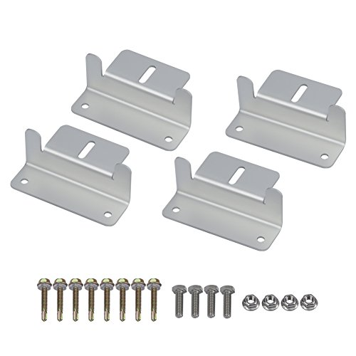 Solar Panel Mounting Z Bracket Mount Supporting for RV, Roof, Boat, Set of 4 Units (1 Sets of Mount Brackets) (Solar Panel Roof Mounting)