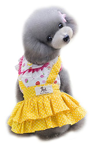 Uniquorn 2017 Spring Summer New Pet Clothes Cute Doll Cotton Skirt Breathable And Comfortable Cat Dog (How To Make A Scarecrow Mask)