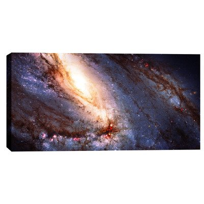 Epic Graffiti Messier 66'' Hubble Space Telescope Giclee Canvas Wall Art, 20 x 40'' by Epic Graffiti