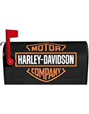 GSUYMMNG Harley Davidson Logo Mailbox Cover Magnetic Standard Size, Mailbox Covers Wraps Post Letter Box Cover Home Garden Yard Outside Decorative21x18 in
