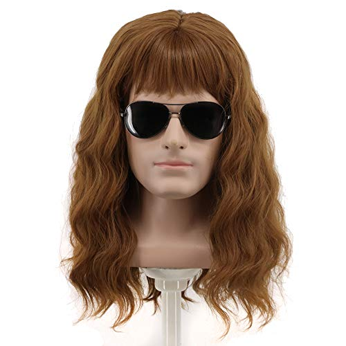 Yuehong 70s 80s Costumes For Men Women Wigs Spiked Rock Wig Mullet Style Heavy Metal Halloween Wigs ()