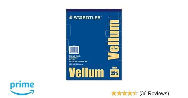 Staedtler Mars Vellum Pad, 16 lb, 50 Sheets, 8-1/2