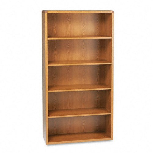HON 10600 Series Bookcase, 5 Shelves, 36 W by 13-1/8 D by 71 H, Medium -