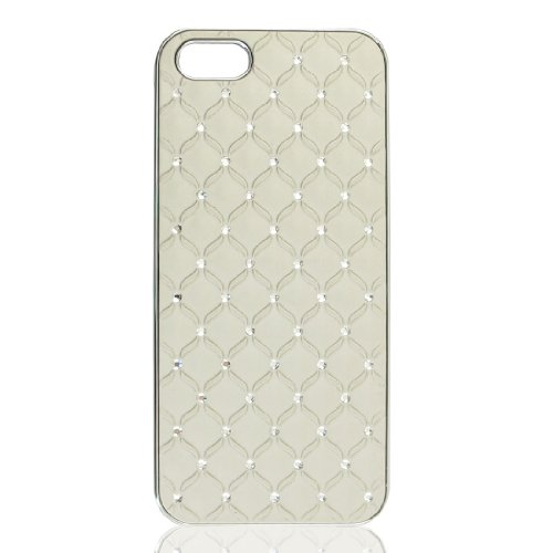 Beige Sparkly Glittery Bling Crystal Hard Back Case Cover for iPhone 5 5G 5th Gen