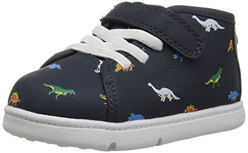 (Carter's Every Step Baby Uptown Girl's and Boy's High-Top Sneaker, Navy, 4.5 M US Toddler)