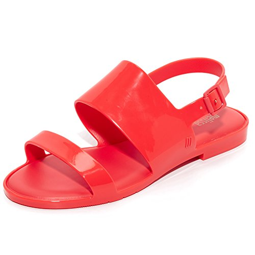 Melissa Women's Classy Sandals, Red, 8 B(M) US