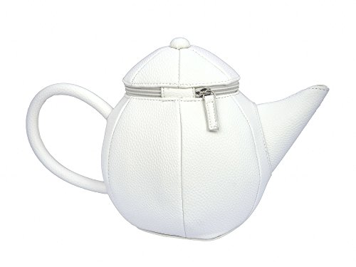 Zippered Teapot Accessory for Alice Cosplay, Tea Party, Princess Costume (White)