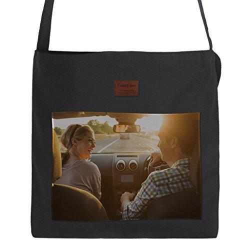 Personalized Fashion Casual Tote Bag for Women Girls, Custom Photo Name Text Travel Handbag Canvas Bride Tribe Maid Of Honor Tote Bag Bargain Liberty Bags Beach Tote (Black-1 (Custom Totes)