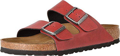 Birkenstock Women's Arizona  Birko-Flo Bordeaux Birko-flor Pull Up Sandals - 36 M EU / 5-5.5 B(M) US
