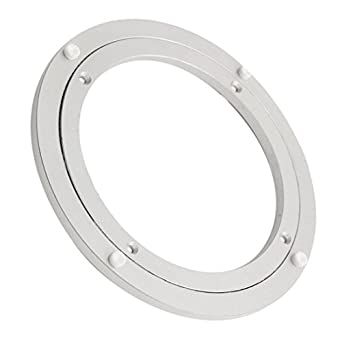 Tu0026B 8 Inch Diameter Aluminum Metal Lazy Susan Hardware Rotating Turntable  Bearings Swivel Plate 200mm Silver