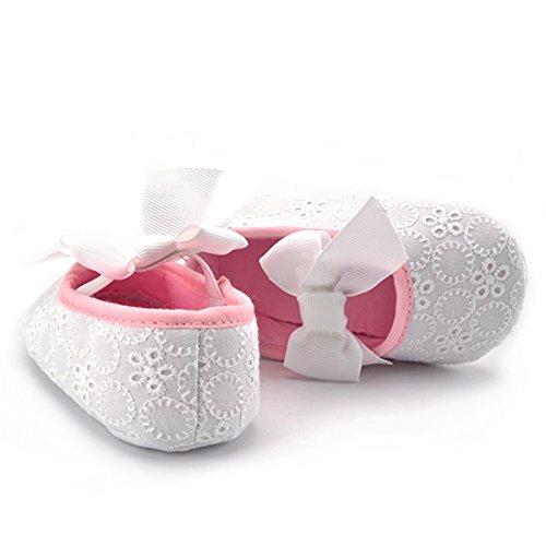Belsen - Zapatos primeros pasos de Material Sintético para niña rojo rojo L im rosa