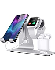 Bestand 3 in 1 Apple iWatch Stand, Airpods Charger Dock, Phone Desktop Tablet Holder for Airpods, Apple Watch/iPhone X/8 Plus/8/7 Plus/iPad,Space Grey(Airpods Charging Case NOT Included)