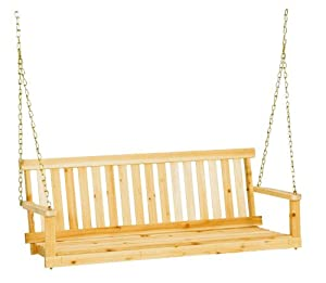 Jack Post Jennings Traditional 4-Foot Swing Seat with Chains in Unfinished Cypress by Jack Post