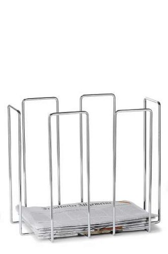 Wires Newspaper Collector in Chrome Finish (Sks Magazine Steel compare prices)