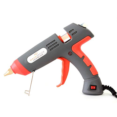 - MackOffice Industrial Hot Melt Glue Gun, Profesional Glue Gun 150W, heavy Duty, High Power, Fast Heat with Portable Case, DIY Craft and Quick Repairs Ceramic, Wood, Glass, Toys, Carpet, Cars and more