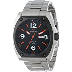 Precimax Men's PX13210 Fortis Automatic Black Dial Silver Stainless-Steel Band Watch