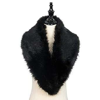 Zando Winter Faux Fur Collar For Winter Coat Scarfs Wraps