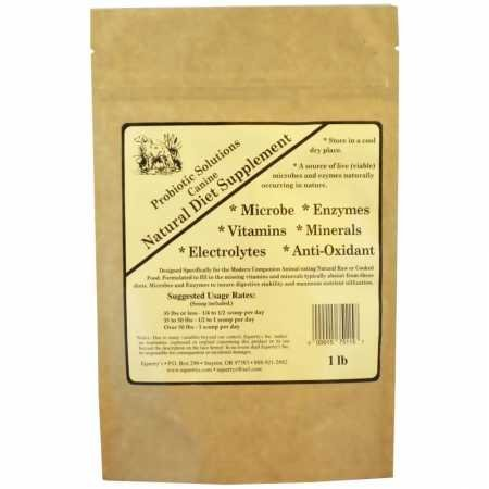 Animal Health Solutions Formulated Canine Natural Diet Vitamins Supplement 1lb