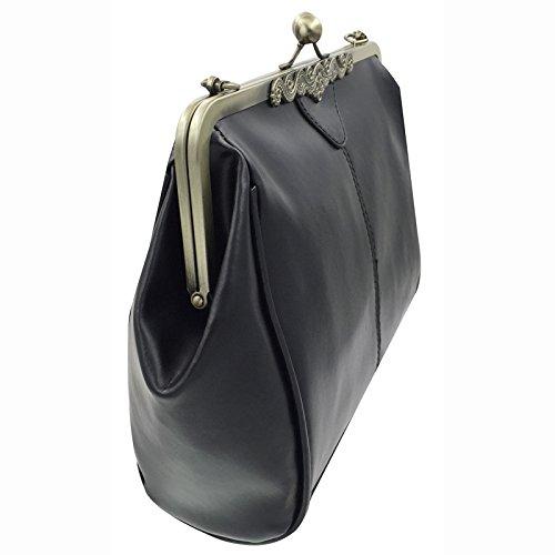 Donalworld femmes Retro /évider en cuir PU Sac /à main /épaule