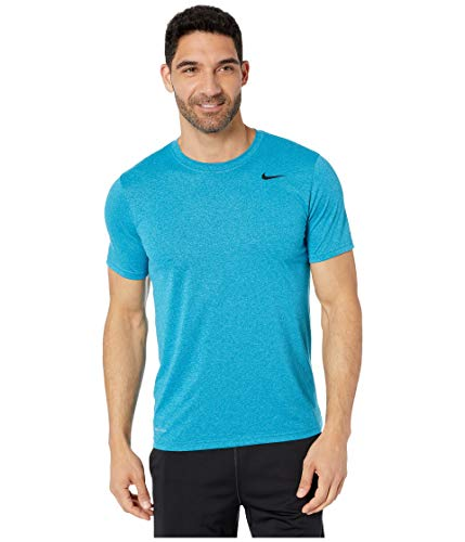 Nike Men's Legend 2.0 Training T Shirt Green Abyss/Light Blue Fury/Black Size Large
