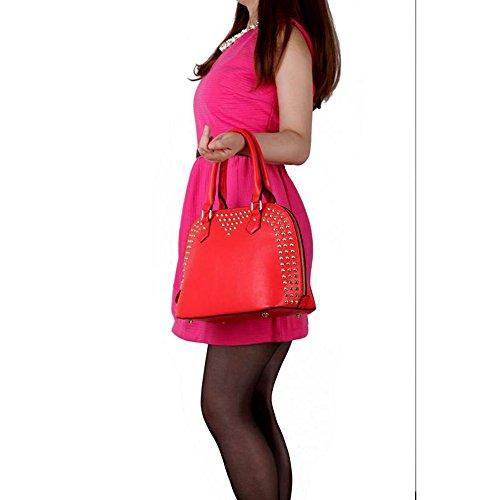 Trend Star Mujeres Elegante Diseñador Diseño SCHT se Mujer Promi estilo piel sintética Tote bolso rosa - rosa
