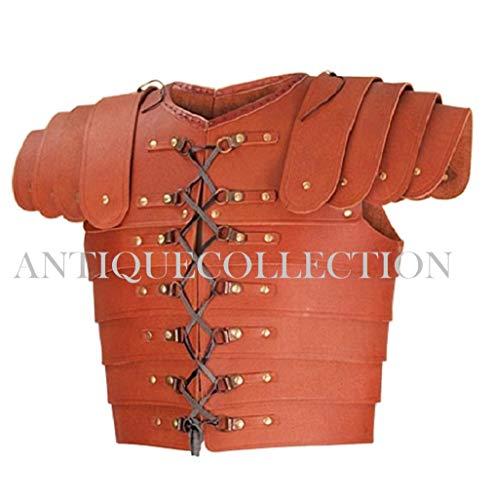 - Medieval Roman Leather Lorica Segmentata Armor Brown