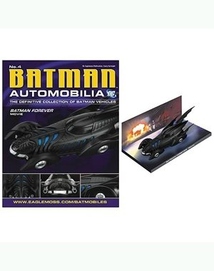 DC BATMAN AUTOMOBILIA FIGURINE COLLECTION MAGAZINE #4 BATMAN FOREVER MOVIE BATMOBILE