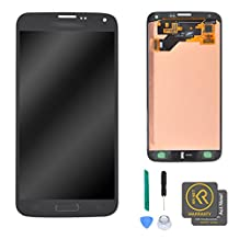 KR-NET Display LCD Touch Screen Digitizer Assembly for Samsung Galaxy S5 Neo G903W/G903F/G903FD w/Home Button + Repair Tools (Black)