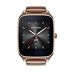 Asus Zenwatch 2 Gold Metal 41mm Smart Watch With Hypercharge Battery, 1.63-inch Amoled Gorilla Glass 3 Touchscreen, 4gb Storage, Ip67 Water Resistant