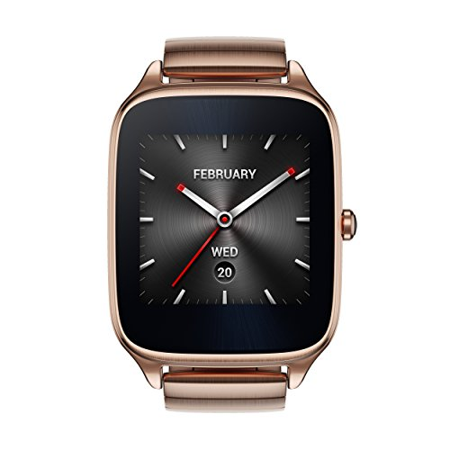 ASUS ZenWatch 2 Gold Metal 41mm Smart Watch with HyperCharge Battery, 1.63-inch...