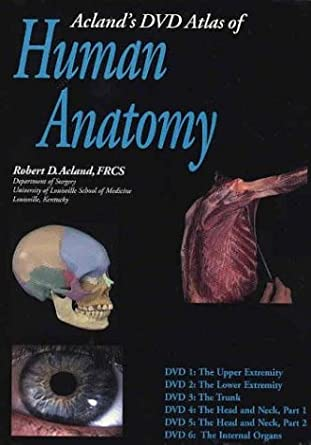Amazon Aclands Dvd Atlas Of Human Anatomy Set Of Six Dvds