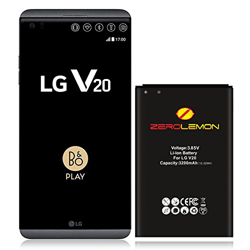 ZeroLemon LG V20 3200mah Battery, LG BL-44e1F Replacement 3200mah Slim Battery for LG V20 Cell Phone